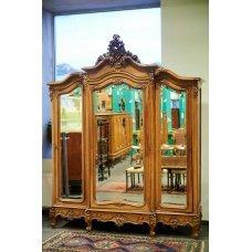 Rococo style walnut wardrobe