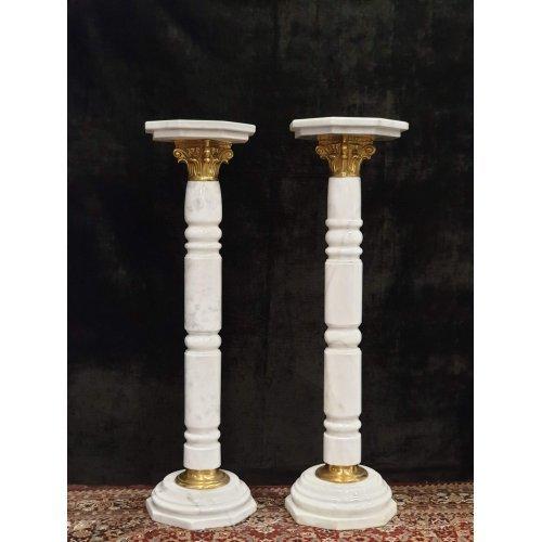 Antique pair of marble columns