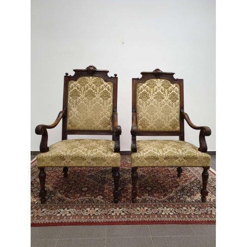 Antique mahogany armchairs