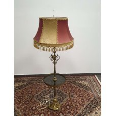 Antique floor lamp with bronze and glass elements