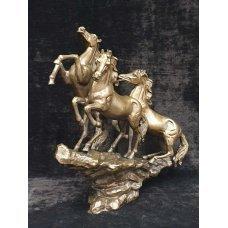Antique figure of bronze horse