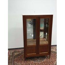 Antique mahogany showcase