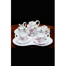 Antique porcelain coffee set for 2 persons