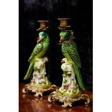 """New porcelain candlesticks """"parrots"""""""