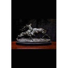 "Bronze figure of Vintage style ""Deer fight"""
