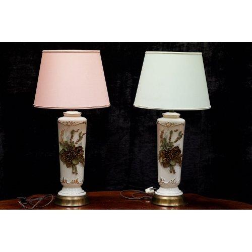 Art Deco porcelain table lamps