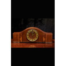 Art Deco mahogany desk clock