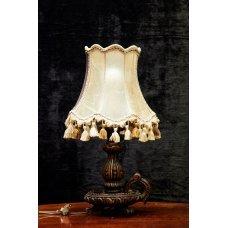 Vintage style mahogany table lamp