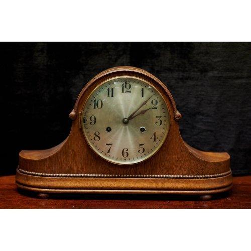 Art Deco mahogany table clock