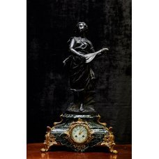 Spialtra mantel clock with marble
