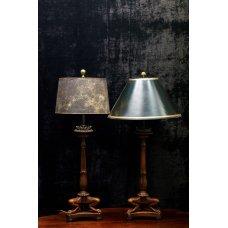 Pair of antique mahogany table lamp