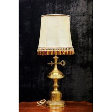 Vintage style brass table lamp